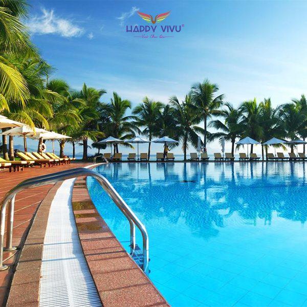 Combo tour du lịch Nha Trang Vinpearl Resort & Spa - Hồ bơi