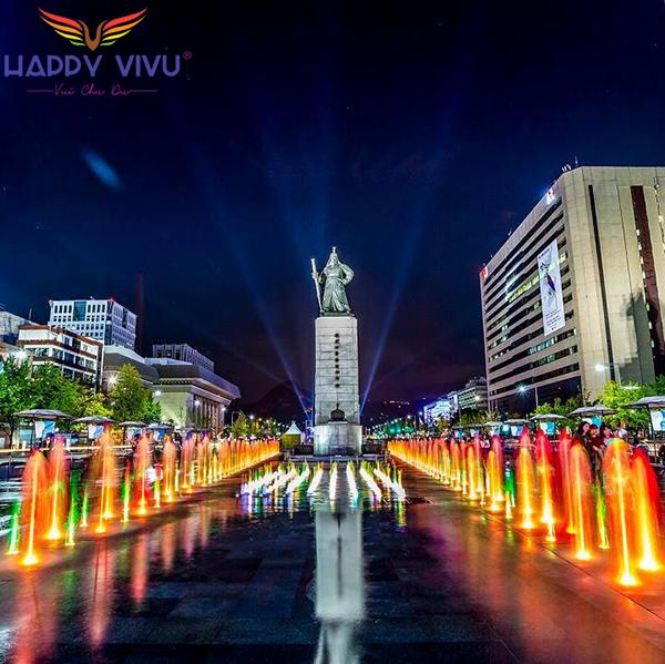 Tour Du Lịch Hàn Quốc Seoul - Nami Quảng Trường Gwanghwamun