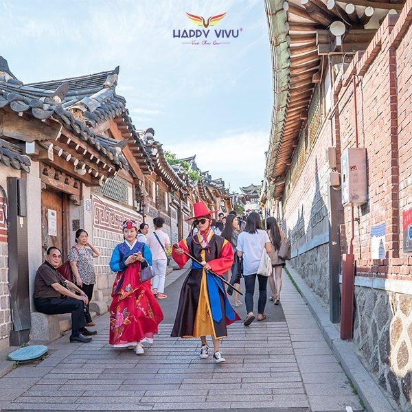 Tour Du lịch Hàn Quốc Seoul Nami Ski Resort - Làng văn hóa Hanok