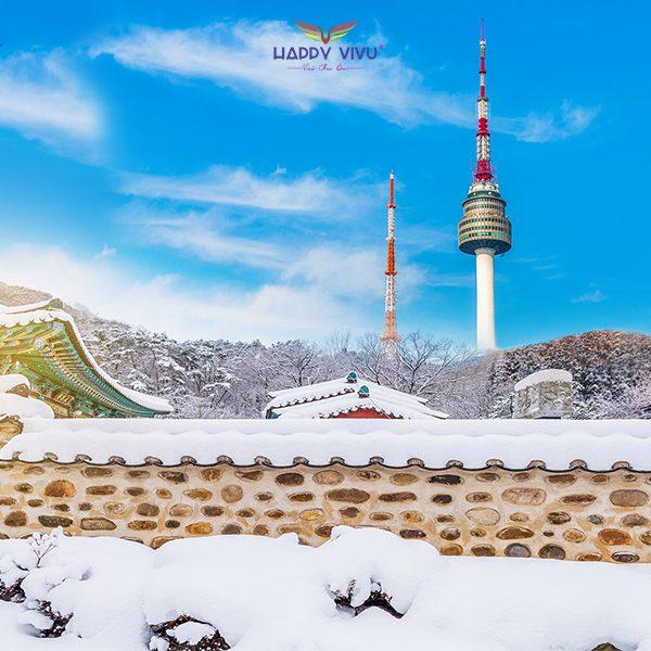 Tour Du lịch Hàn Quốc Seoul Nami Ski Resort - Tháp Namsan